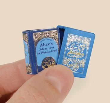 Alice´s Adventures in Wonderland by Lewis Carroll  micro-miniature